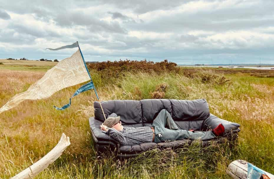 The writer has a rest on a random discovery – a rather handy sofa on the Suffolk coast.
