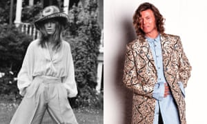 Frock coat and bippety-boppety hat: David Bowie 1971 and at Glastonbury in 2000