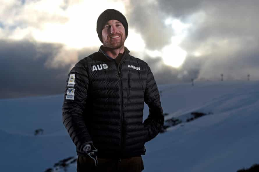 Sean Pollard at the Snowboard Cross training camp in Mount Hotham Ski Resort, Victoria during preparations for the 2018 Pyeongchang Paralympics.