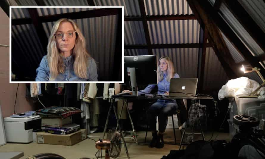 Guardian Australia's picture editor Carly Earl is working from home and using her attic as an office during the coronavirus pandemic.