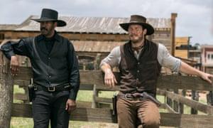 Just hanging around … Denzel Washington and Chris Pratt in The Magnificent Seven.
