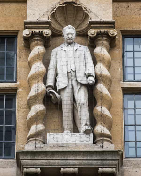 The statue of Cecil Rhodes at Oriel College, Oxford.