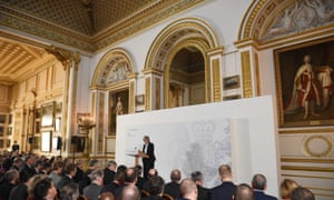 Theresa May delivers her Brexit speech at Lancaster House on 17 January.