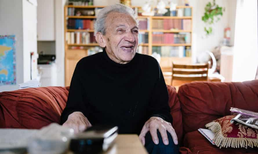 Musiy Rishin laughs in his apartment in Alameda, California, in August. Rishin's daughter Svetlana said: 'This is a huge, huge relief for both of us.'