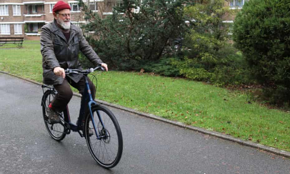 Jeremy Adams, 76, tries out the Islabikes Joni.