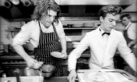 Marco Pierre White Gordon Ramsay  Harveys restaurant in London, 1989.