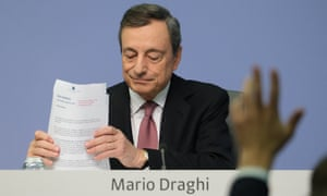 Mario Draghi, President of the European Central Bank, yesterday