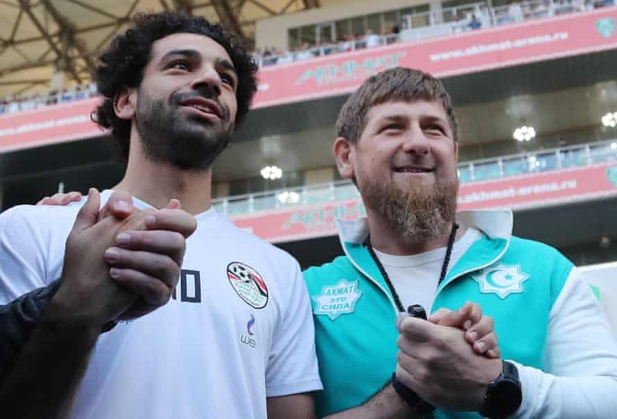Ramzan Kadyrov and Mo Salah
