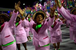 Members of the Mangueira samba school