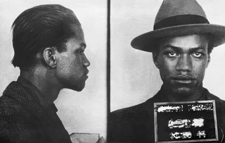 Malcolm X, age 18, after being arrested for larceny.