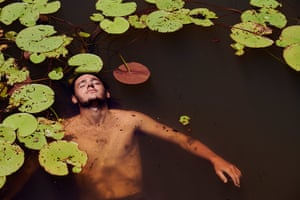 John Fredricks floating in the waters of the Wunaamin Miliwundi Ranges