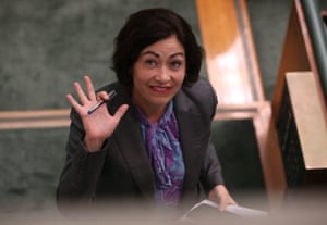 Labor's Terri Butler is evicted from the house under standing order 94A.