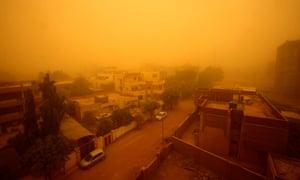 A sandstorm in Khartoum, March 2018.