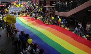 Lesbian, Gay, Bi-sexual and Transgender (LGBT) parade in Hong Kong