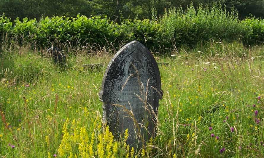 A gravestone at Ratlinghope churchyard in Shropshire.
