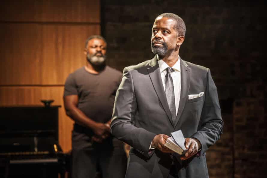 Danny Sapani and Adrian Lester in Hymn at the Almeida.