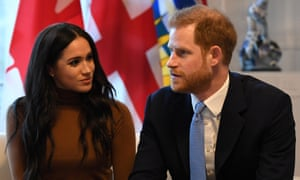 The Duke and Duchess of Sussex visiting Canada House.