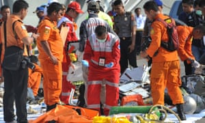 Authorities conduct round-the-clock search after Lion Air crash off Jakarta on Monday.