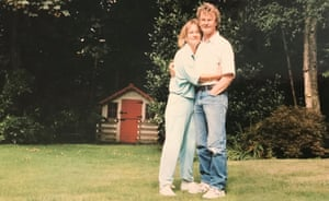 Sally and Richard Challen in the garden of their home in Claygate