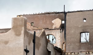 Smoke-blackened remains of the Glasgow School of Art's Mackintosh building