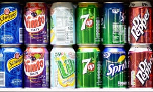 Some of the soft drinks that will be taxed differently.