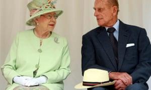 Queen Elizabeth II, Australia's head of state, speaking with her husband Prince Philip.