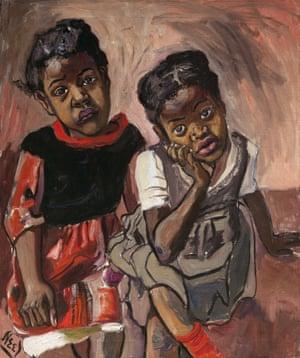 Two Girls, Spanish Harlem, 1959 by Alice Neel