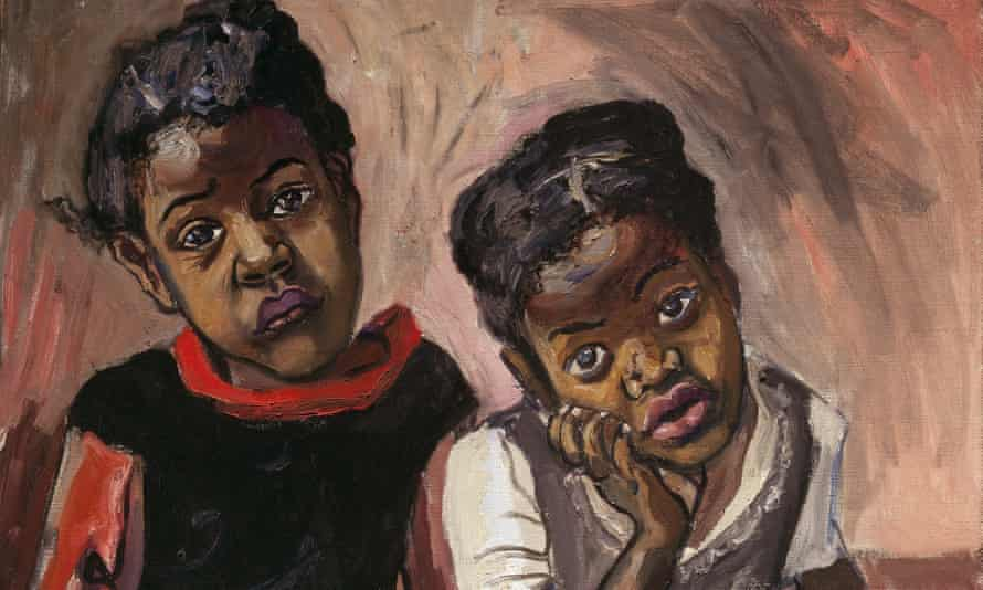 A detail from Two Girls, Spanish Harlem, 1959
