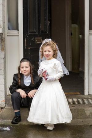 Jewish Children Celebrating Purim. London, UK