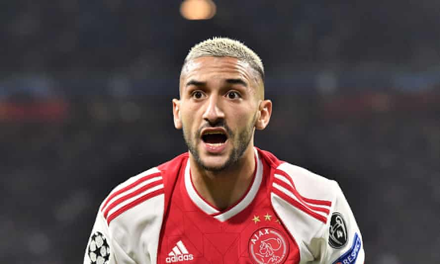 Hakim Ziyech was due to join Cheslea from Ajax on 1 July but that deal is now likely to be delayed until the Eredivisie is finished.