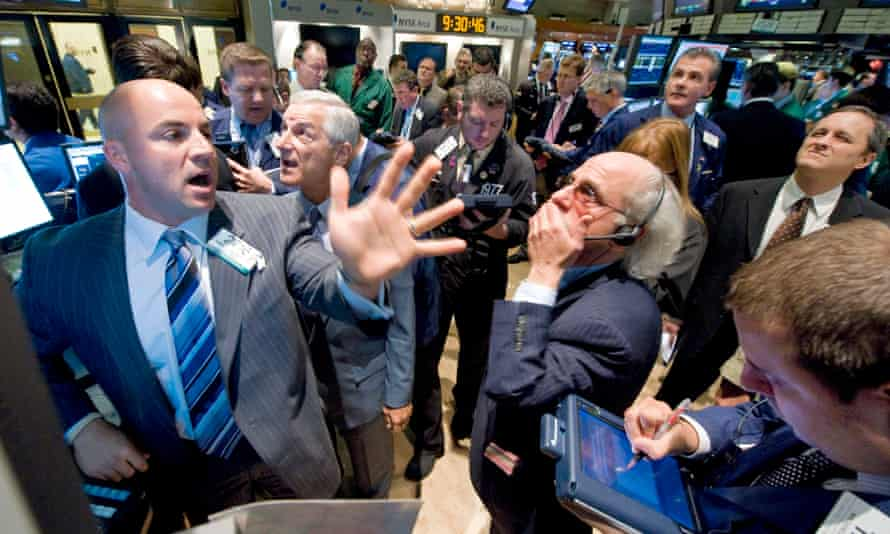 Shock on the New York Stock Exchange in 2008 as shares see their steepest drops in years.