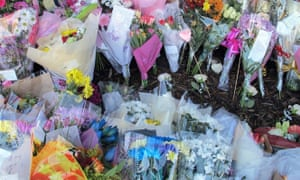 Floral tributes left in memory of India Chipchase at the pub where she worked.