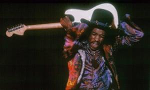 Jimi Hendrix performs at Olympia, London, December 1967,