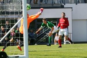 Ross Allen scores Guernsey's second