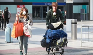 Passengers that travelled on a repatriation flight fromPeru arrive at Gatwick Airport in Sussex as the government continues to help tens of thousands of Britons.
