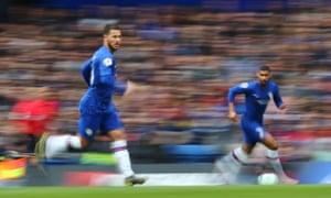 Chelsea's Eden Hazard runs alongside Ruben Loftus-Cheek as the Blues beat Watford 3-0 to secure Champions League football next season.