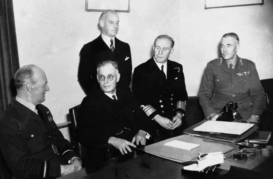 John Curtin (second from left), who led Australia through the second world war and co-designed its post-war reconstruction, has been ranked our best prime minister.