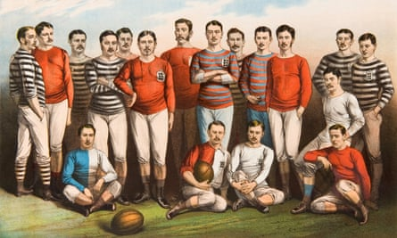 Sam Weller Widdowson is standing sixth from the left on the back row, in England shirt, alongside fellow notable footballers from the nineteenth century.
