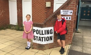 At the polling station in West Bergholt