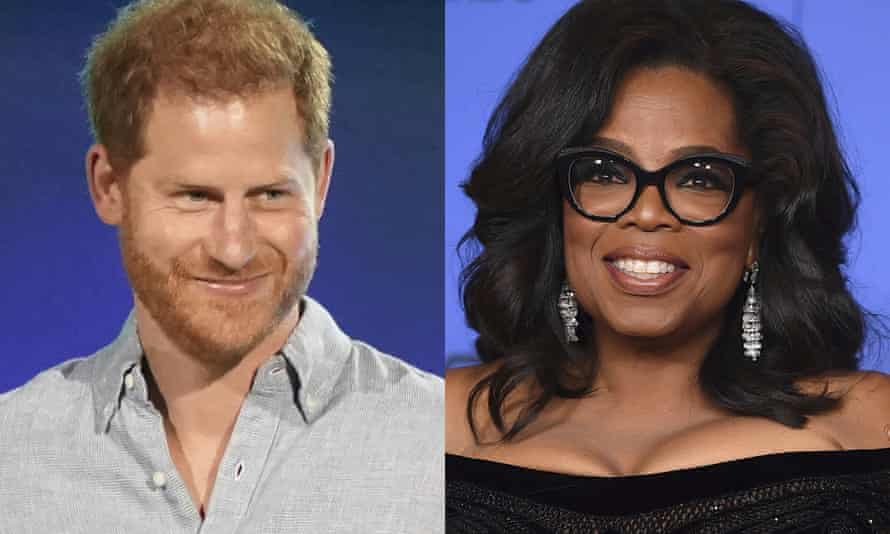 Prince Harry's collaboration with Oprah Winfrey follows his and Meghan's explosive interview with Winfrey two months ago.