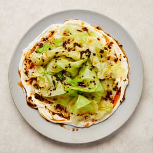 Yotam Ottolenghi's cabbage with ginger cream and chilli oil.