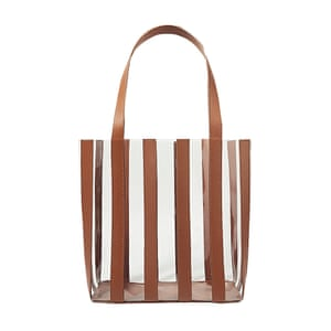 Clear striped tote, £255, by Loeffler Randall, net-a-porter.com.