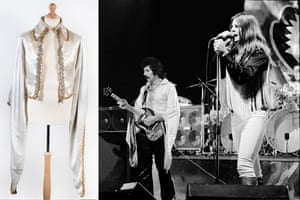 Shirt worn by Tony Iommi on the 1975-76 Black Sabbath Sabotage tour. Here they are performing in Copenhagen, Denmark in October, 1975.