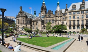 The Peace Gardens in Sheffield, South Yorkshire.