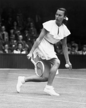 """1940sGussie Moran, otherwise known as """"Gorgeous Gussie"""", only ever made it to No 4 in the US. But her """"daring"""" outfits – read, showing a bit of lace attached to her knickers – meant she was a sensation who """"earned tennis wider recognition than all the great champions of the immediate postwar years""""."""