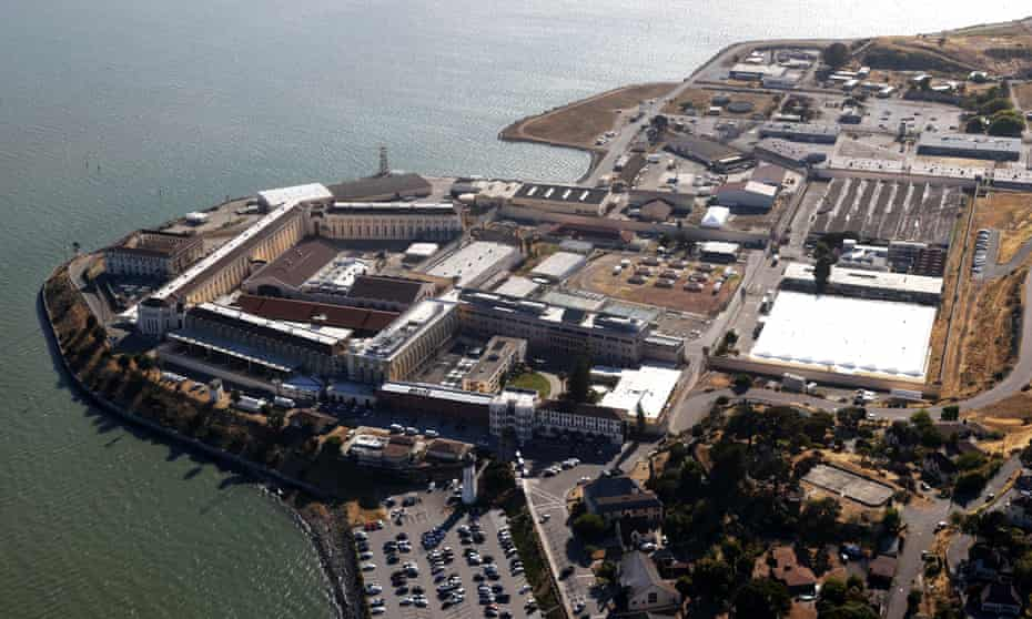 San Quentin state prison. Almost 10,000 people in California state prisons have Covid-19.