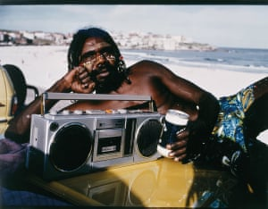 The Movie Star: David Gulpilil on Bondi beach (1985) by Tracey Moffatt