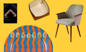Clockwise from top left, Self-Reliance with cover art by Sir David Adjaye, foldable box by Métier London, chair covered in Majeda Clarke's fabric, dinner plate by Yinka Ilori