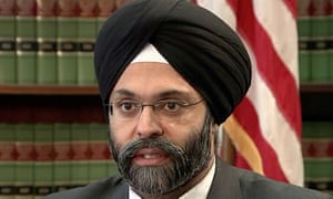 Screengrab of Gurbir Grewal, NJ Atorney General who was insulted by two radio hosts. CBS
