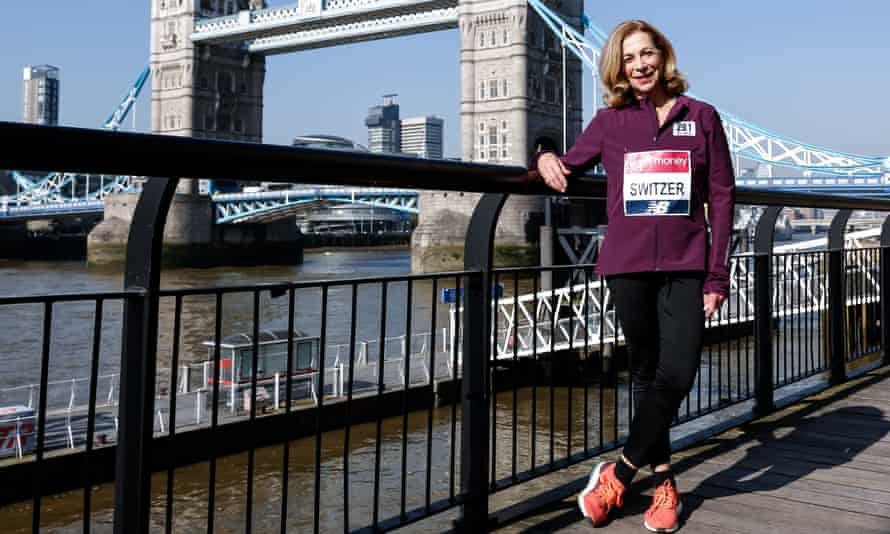 Kathrine Switzer in London for this year's race.